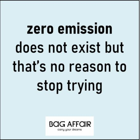 Quote visual: Zero emission does not exist but that's no reason to stop trying